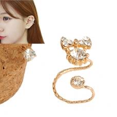 Gouden Kristallen Strik Ear Cuff