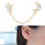 Gouden Kristallen Zon & Maan Ear Cuff