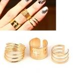 Gouden Kruis Spiraal Ringenset