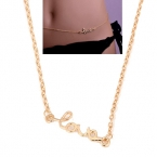 Gouden Love Body Chain
