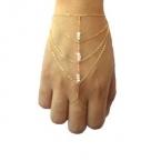 Gouden Met Kristallen Hand Armband