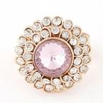 Gouden Met Roze Chunky Diamant Ring