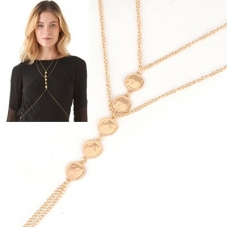 Gouden Munten Ketting Body Chain
