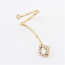 Gouden One Piece Square Ring