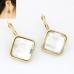 Gouden Square Kristal Oorbellen
