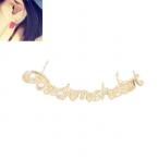 Gouden 'Touch Me Heart' Ear Cuff