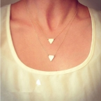Gouden Triangles Ketting