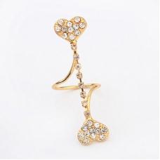 Gouden Verbonden Harten Ring