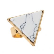 Gouden Wit Met Zwarte Steen Ring