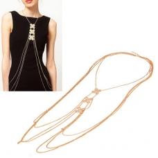 Gouden XXX Body Chain