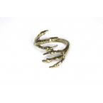 Gouden Twee Klauwen Ring