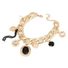Gouden Bedeltjes Chain Armband