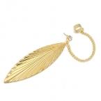 Gouden Blad Met Kristal Ear Cuff