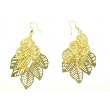 Gouden Bladeren Oorbel