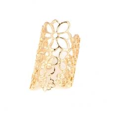 Gouden Bloem Vinger Ring