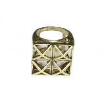Gouden Blokjes Ring