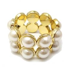 Gouden Brede Parel Armband