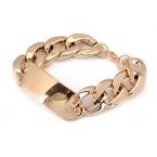 Gouden Chain Armband Met Gouden Plaatje