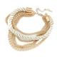 Gouden Chain Met Witte Touw Armband