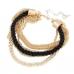 Gouden Chain Met Zwarte Touw Armband