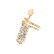 Gouden Diamant Nagel Ring Met Ster