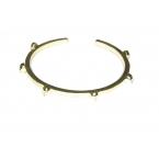 Gouden Doodskop Armband