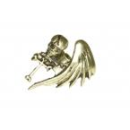 Gouden Doodskop Met Vleugel Ring