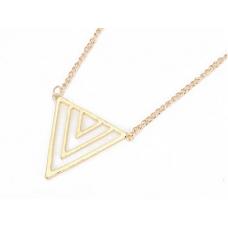 Gouden Driehoeken Ketting
