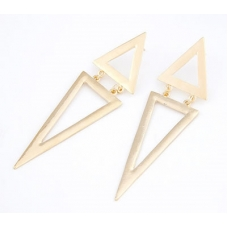 Gouden Driehoeken Oorbellen