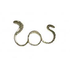 Gouden Slang Drie Vinger Ring