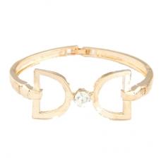 Gouden Dubbel D Strik Armband