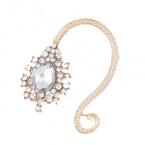 Gouden Grote Kristal Ear Cuff