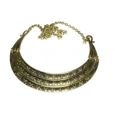 Gouden Halsketting Met Print