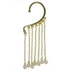 Gouden Hanger Ear Cuff Met Balletjes