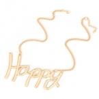 Gouden Happy Ketting