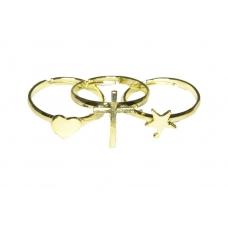 Gouden Hart, Kruis & Sterren Ringenset