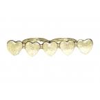 Gouden Hartjes Dubbel Vinger Ring