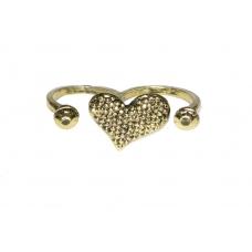 Donker Gouden Hart Met Steentjes Ring