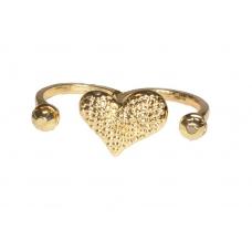 Gouden Hart Met Steentjes Ring