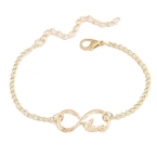 Gouden Infinity Letter Armband