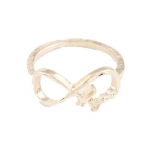 Gouden Infinity Letter Ring