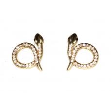 Gouden Kristallen Slangen Oorbellen