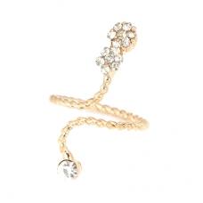 Gouden Kristallen Slang Vinger Ring