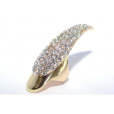 Grote Gouden Kristal Nagel Ring