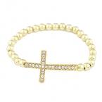 Gouden Kruis Met Parel Armband