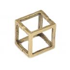 Gouden Kubus Ring