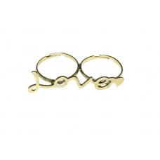 Gouden Letter 'Love' Ring