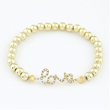 Gouden Love Parel Armband