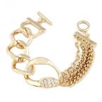 Gouden Luxe Chain Armband Met Kristallen