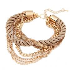 Gouden Luxe Touw & Ketting Armband